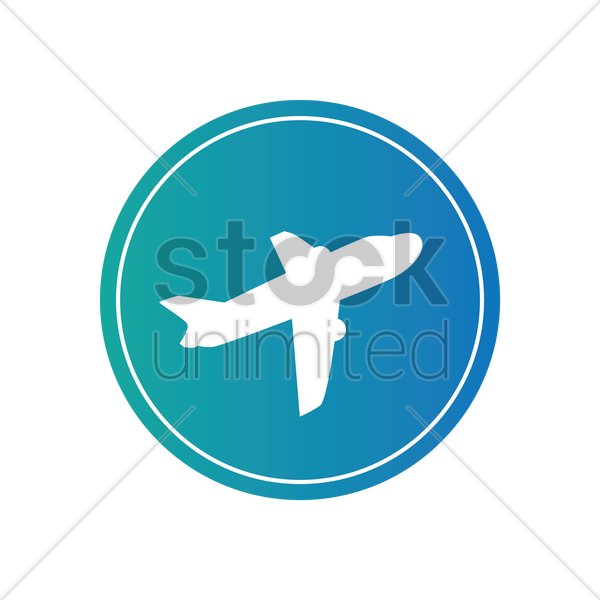Free airplane icons vector graphic
