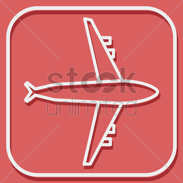 airplane vector graphic