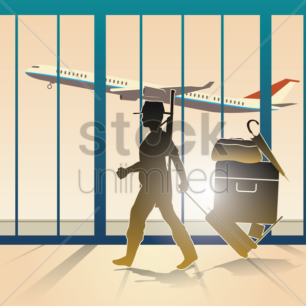 airport vector graphic