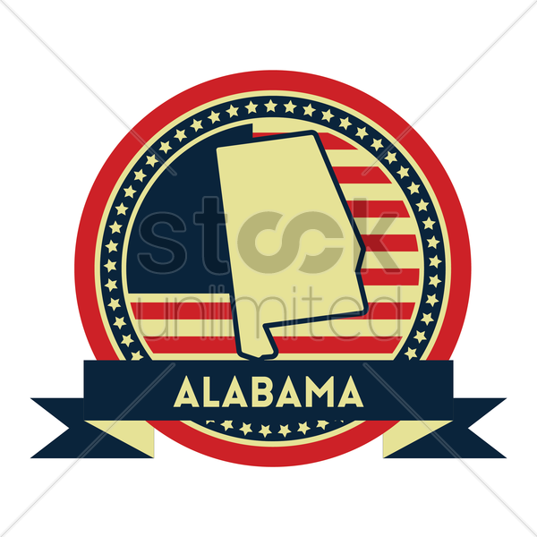 Free alabama map label vector graphic