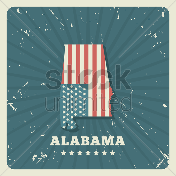 alabama map vector graphic