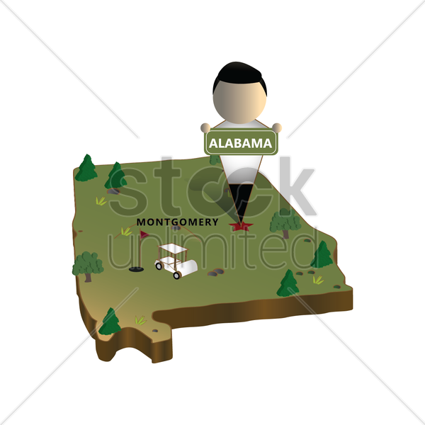 alabama state map vector graphic