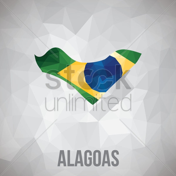 alagoas state map vector graphic