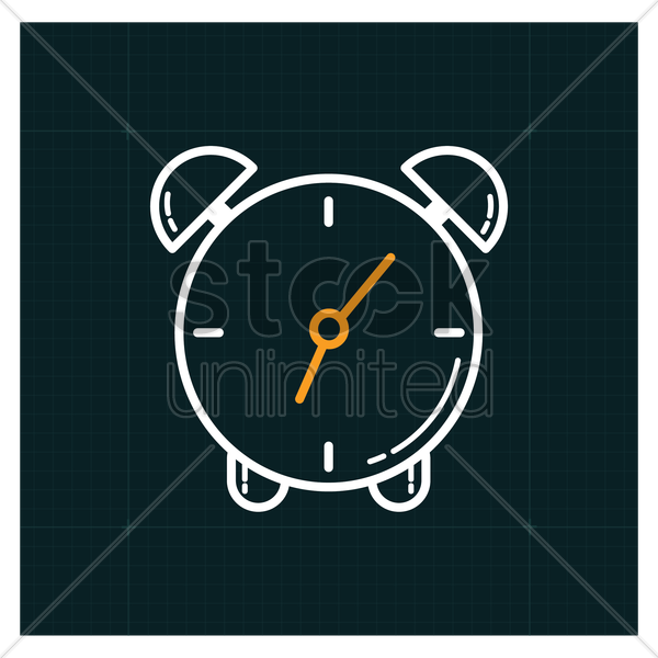 alarm icon vector graphic