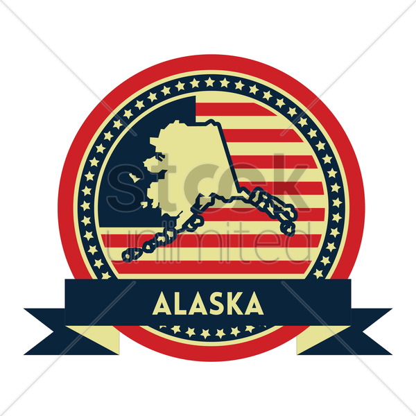 Free alaska map label vector graphic
