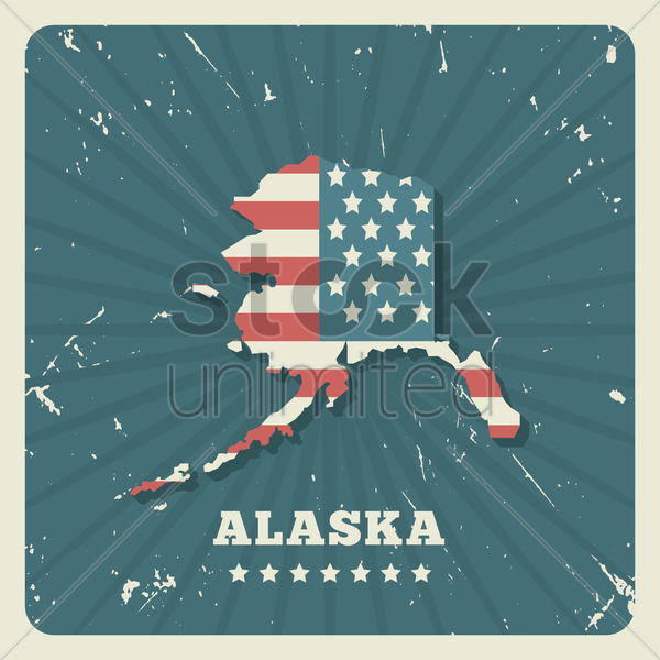 alaska map vector graphic