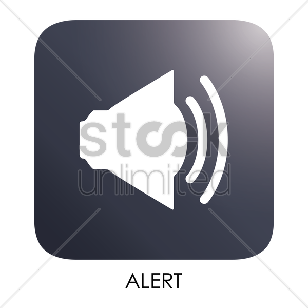 alert icon vector graphic