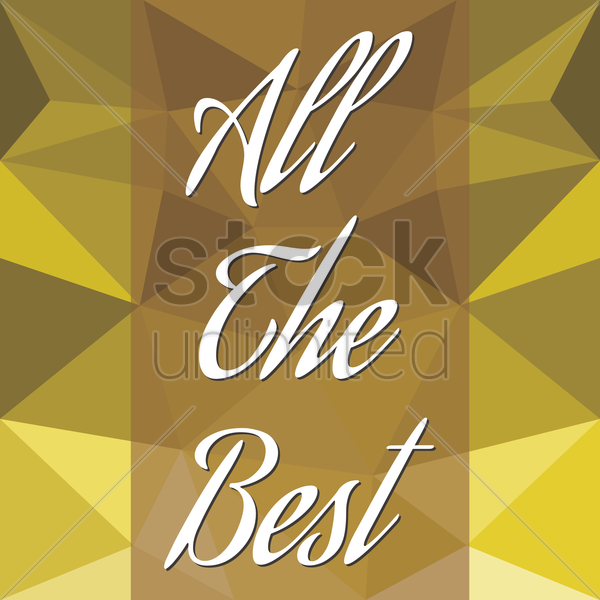 all the best card vector graphic