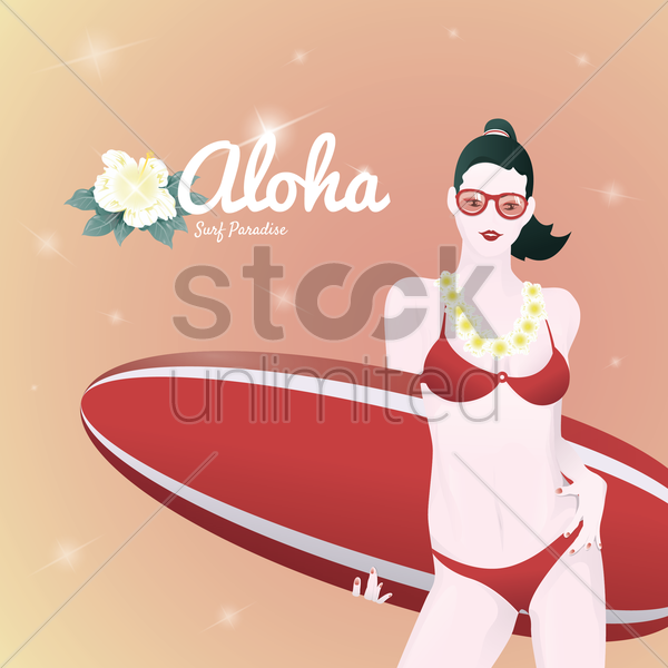 aloha vector graphic