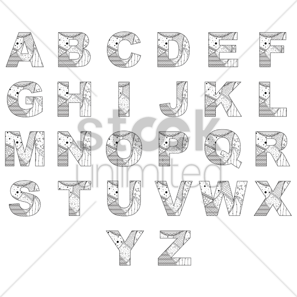 alphabet collection vector graphic