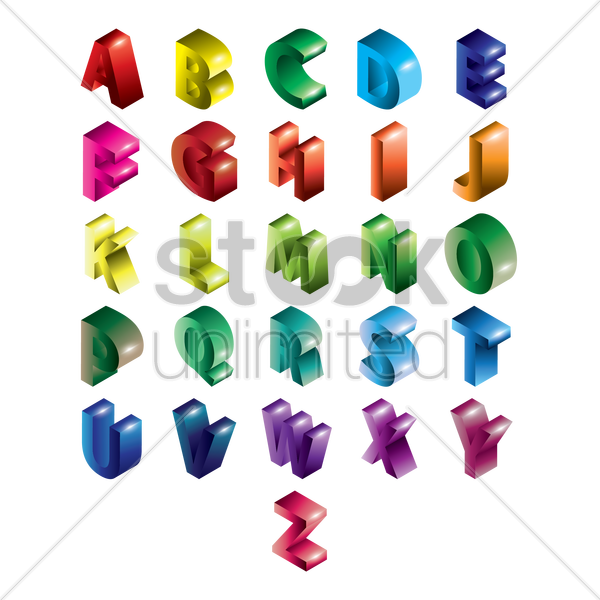 alphabet set vector graphic
