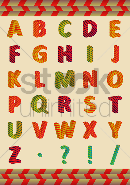 alphabets chart vector graphic