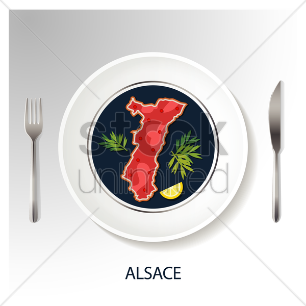 alsace map vector graphic