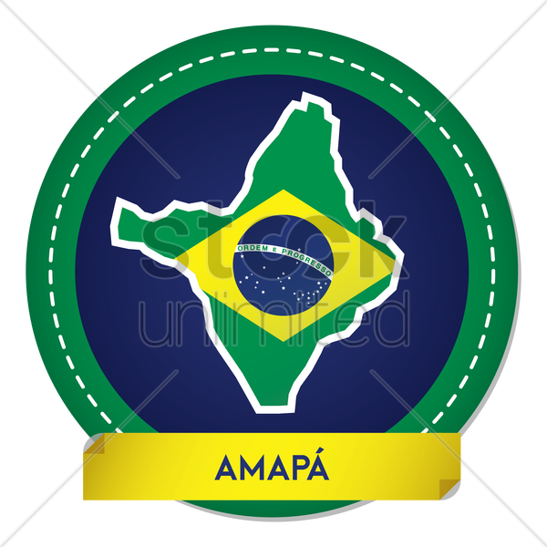 amapa map sticker vector graphic