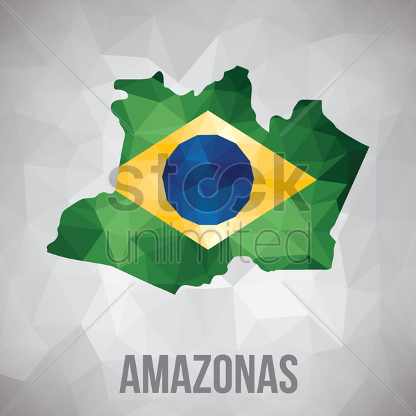 amazonas state map vector graphic