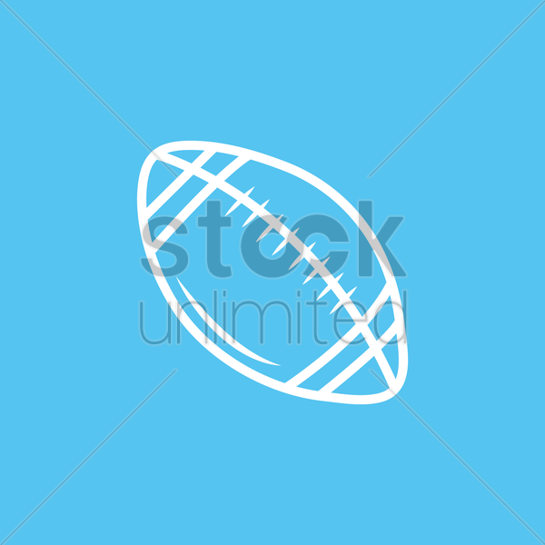 american football ball vector graphic