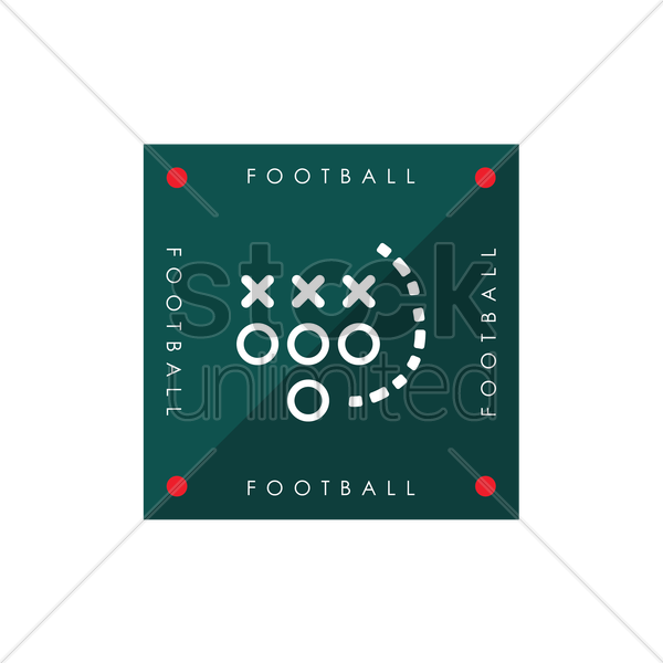 american football game plan vector graphic