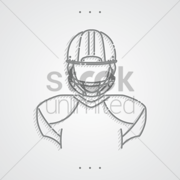 american football player vector graphic
