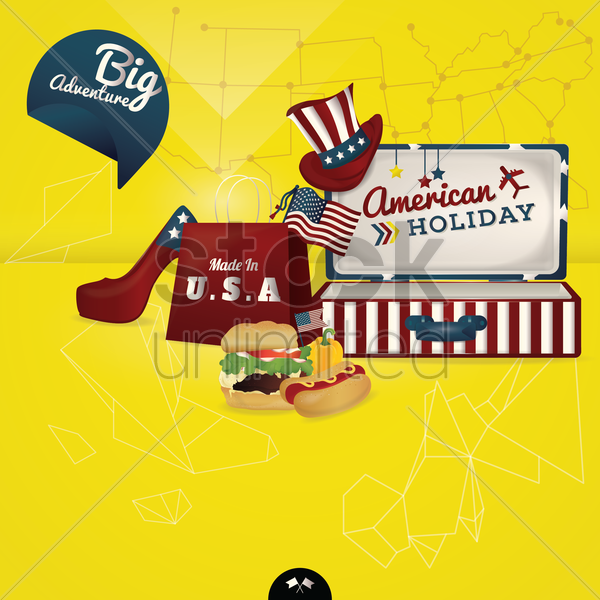 american wallpaper vector graphic