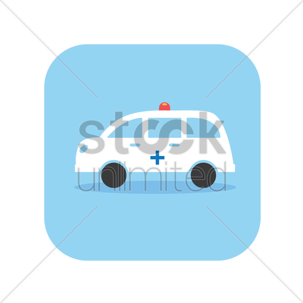 an ambulance vector graphic