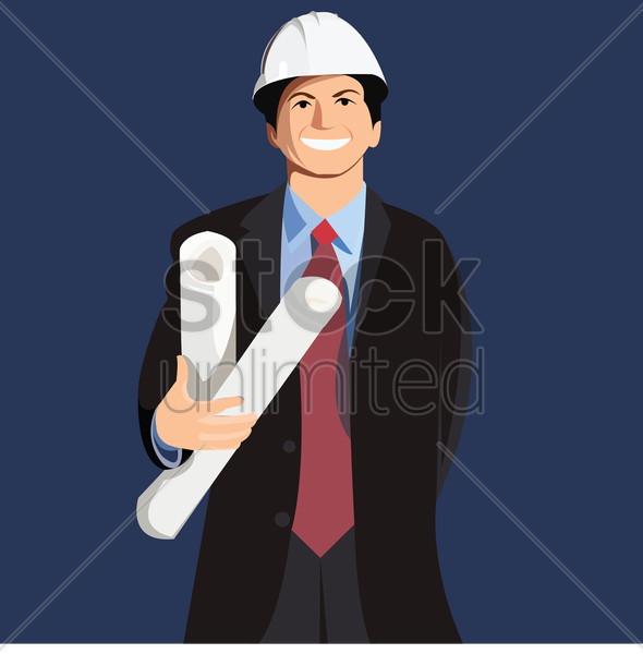 an engineer vector graphic