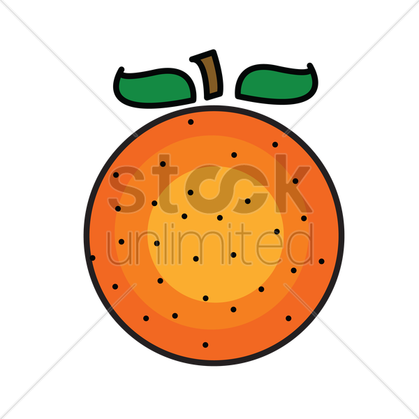 Free an orange isolated over white background vector graphic