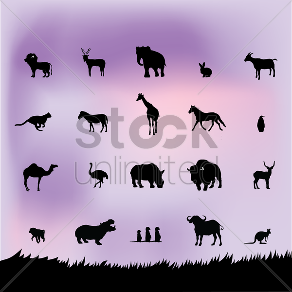 animal silhouette vector graphic