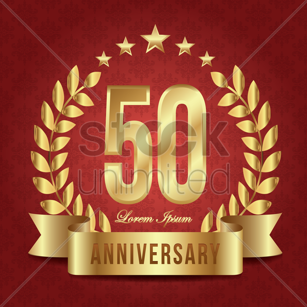 anniversary label vector graphic