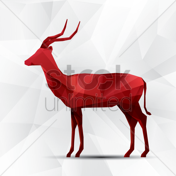 antelope vector graphic