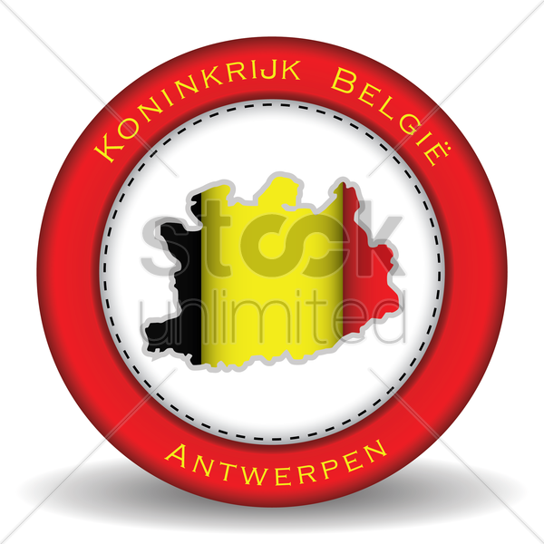 antwerpen map sticker vector graphic