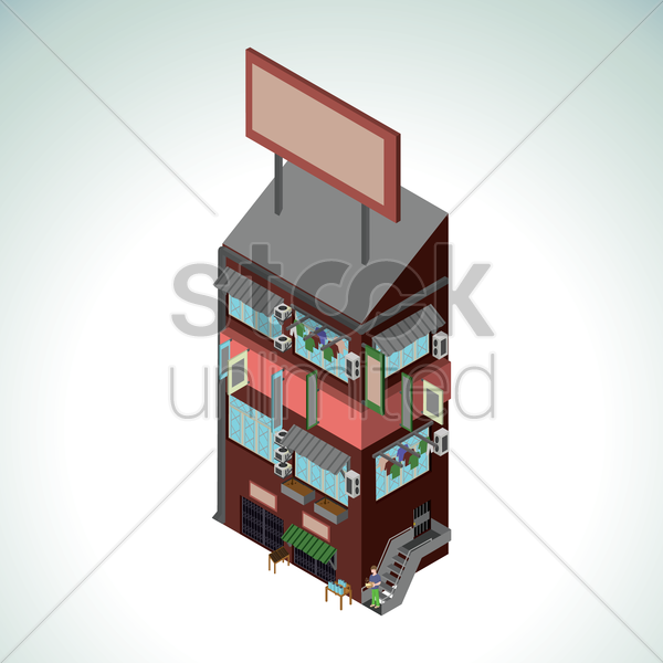 apartment building vector graphic