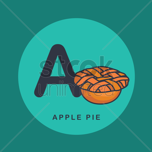 apple pie vector graphic