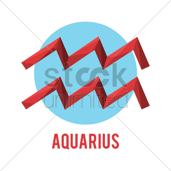 aquarius zodiac sign vector graphic