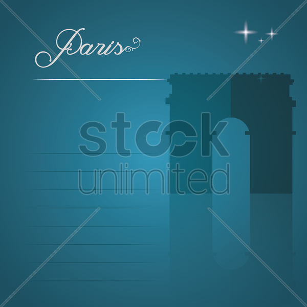 arc de triomphe vector graphic