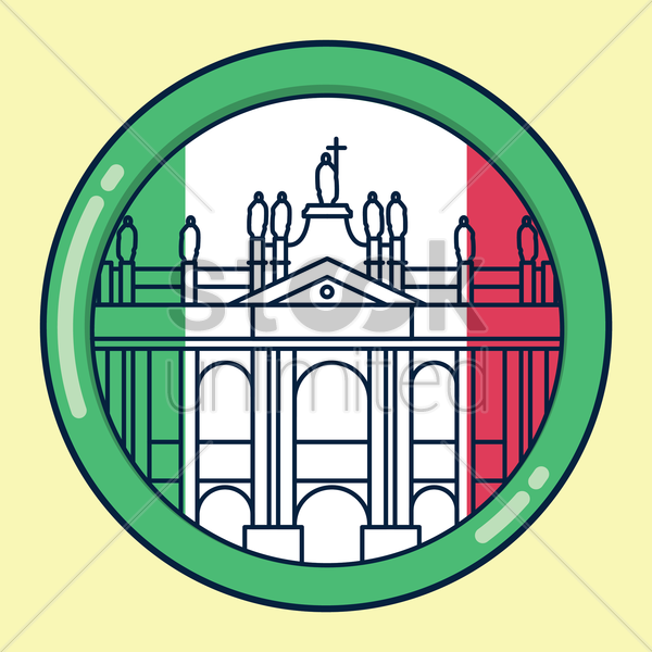 Free archbasilica of st. john lateran vector graphic