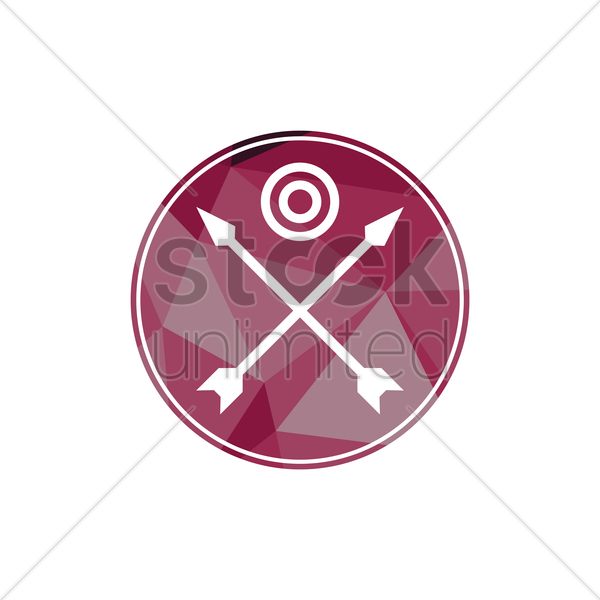 archery emblem vector graphic