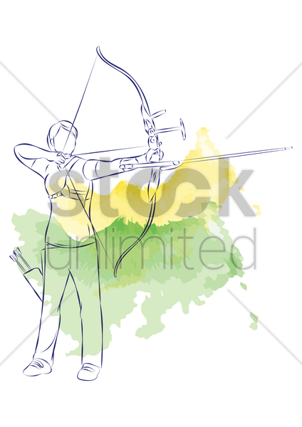 archery vector graphic