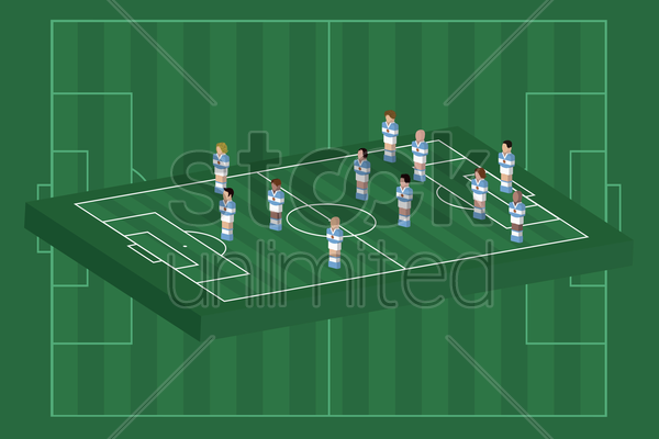 argentina team formation vector graphic