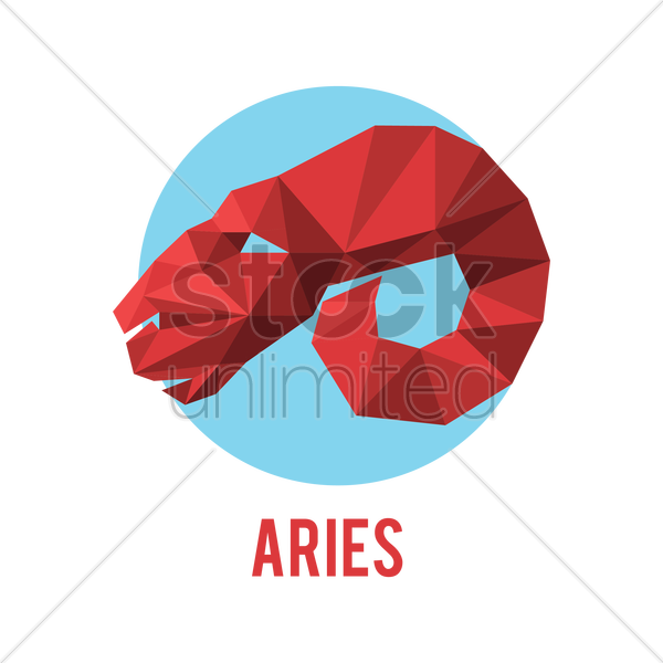 aries zodiac sign vector graphic
