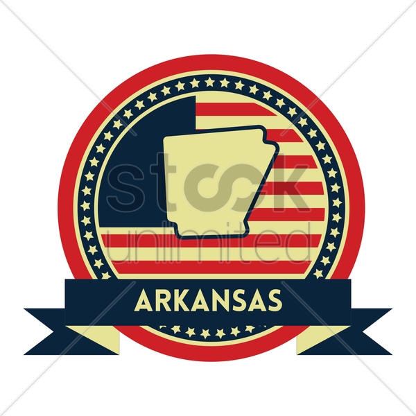 Free arkansas map label vector graphic