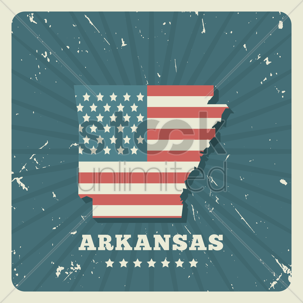 arkansas map vector graphic