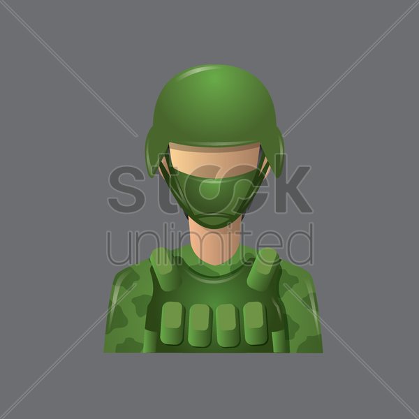 army officer vector graphic