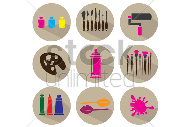 art tools vector graphic