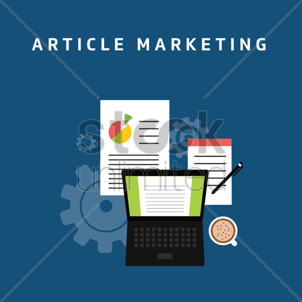 Free article market vector graphic