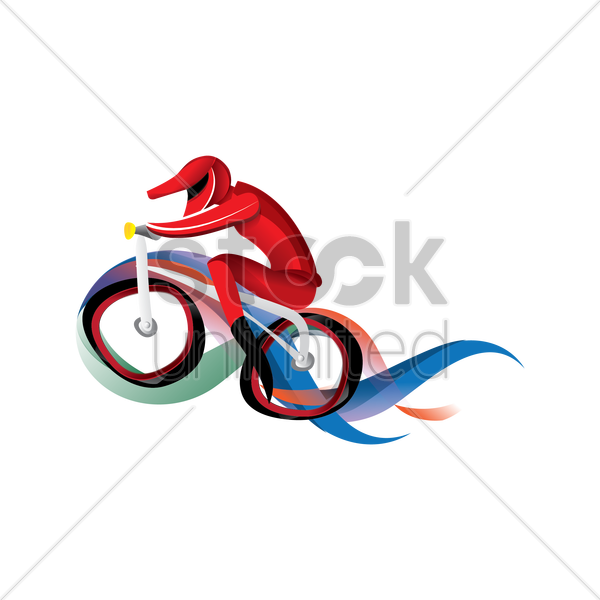 artistic design of a bmx cyclist vector graphic