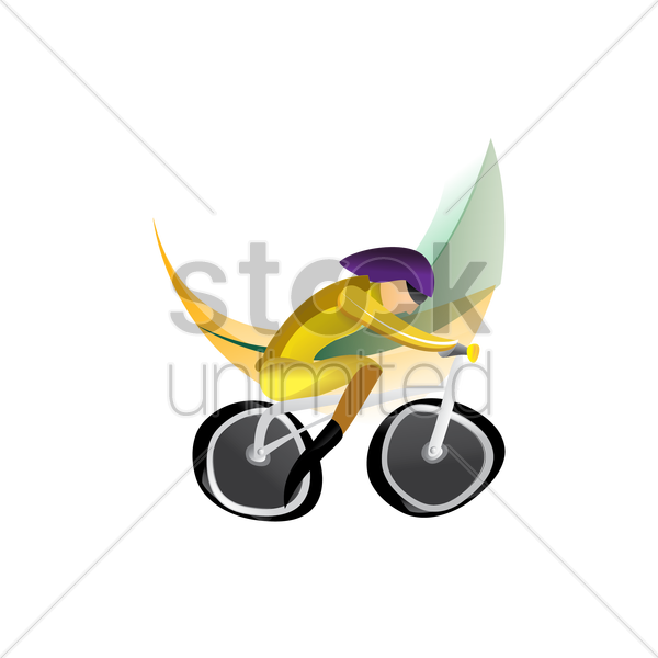 artistic design of a cyclist vector graphic