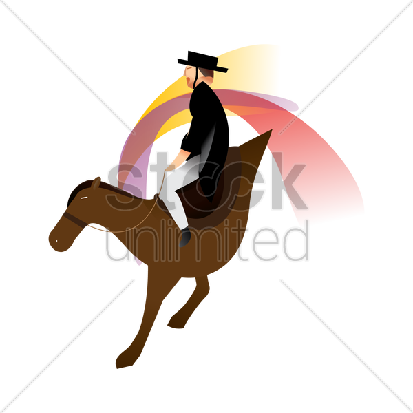 artistic design of an equestrian vector graphic
