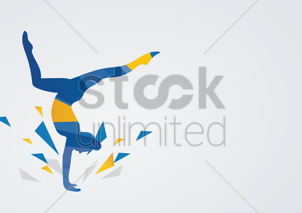 artistic gymnastic in action vector graphic