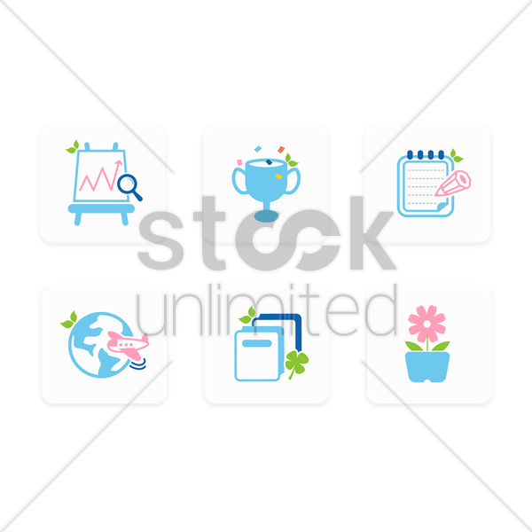 assorted icons vector graphic