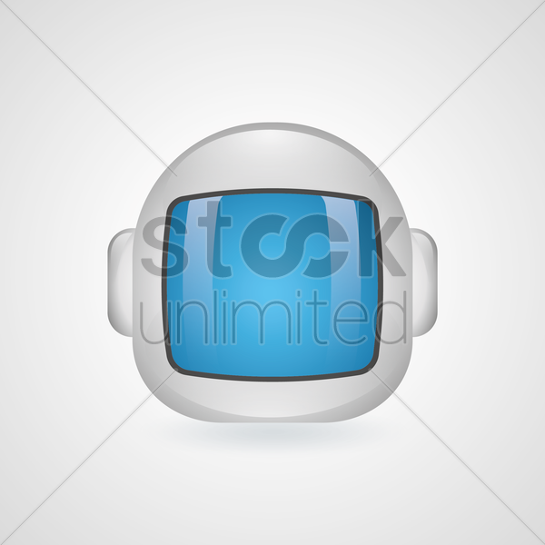 astronaut helmet vector graphic